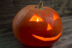 Burning pumpkin for Halloween Royalty Free Stock Photos