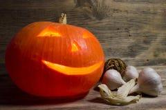 Burning pumpkin for Halloween Royalty Free Stock Photography