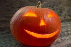 Burning pumpkin for Halloween Stock Photos