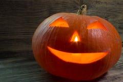 Burning pumpkin for Halloween Royalty Free Stock Photo