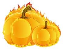 Burning pumpkins Royalty Free Stock Photography