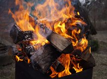The burning pyre. Stock Photography