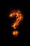 Burning Question Mark royalty free stock images