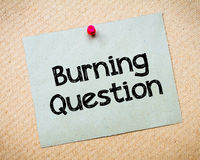 Burning question Royalty Free Stock Photo