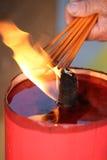 Burning rökelse Royaltyfria Bilder