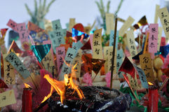 burning rökelse Arkivbilder