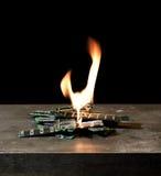 Burning RAM-sticks Stock Image
