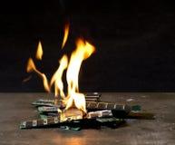 Burning RAM-sticks Royalty Free Stock Photos