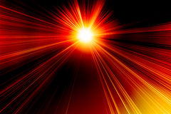 Burning red abstract sun Royalty Free Stock Photo