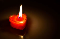 Free Burning Red Candle Heart Royalty Free Stock Images - 41497579