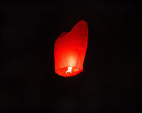 Burning red celestial lamp Royalty Free Stock Photo