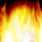 Burning red flame Royalty Free Stock Image