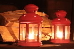 Burning Red Lanterns Stock Image