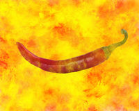 Burning red pepper Stock Image