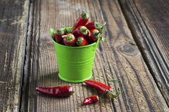 Burning red pepper Royalty Free Stock Images