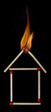 Fire insurance for your home Stock Photo