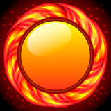 Burning round frame. Vector. Burning round frame in the broun. Vector illustration Vector Illustration