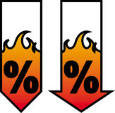 Burning sale. Vector stock illustration