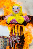 Burning of scarecrow of Carnival Royalty Free Stock Photography