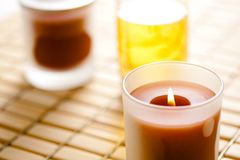 Burning scented candles Royalty Free Stock Photography
