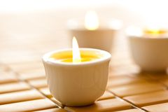Burning scented candles Royalty Free Stock Image