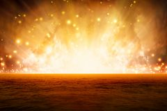 Burning sea. Abstract fantastic background, exploding red sea, end of world Stock Images