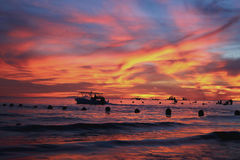 Burning Seascape Stock Images