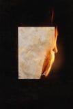 Burning sheet of paper Royalty Free Stock Photo