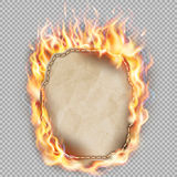 Burning sheet of paper. EPS 10. Burning sheet of paper isolated background. EPS 10 vector file included stock illustration