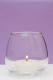 burning sikt för stearinljusframdelpurple Royaltyfri Fotografi