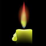 Burning Single Candle Royalty Free Stock Photos