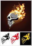 burning skalle Royaltyfri Foto
