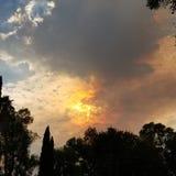 burning skies Fotografering för Bildbyråer