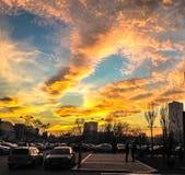 burning skies Arkivfoto