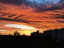 Burning skies Stock Photography
