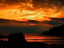 Burning Skies. Dramatic fiery sunset Stock Photos