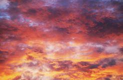 Burning skies stock images