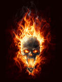 Burning skull. Satanic burning skull bringer of doom Stock Photo