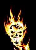 Burning skull. Illustration of a flaming skull Royalty Free Stock Photos