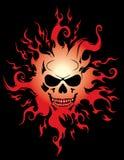 Burning skull Stock Photo