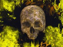 Burning skull Royalty Free Stock Images