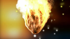 Burning skull. Alpha matted. 3D rendered stock footage