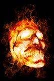Burning Skull Stock Images
