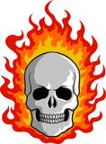 Burning Skull Clipart Royalty Free Stock Photography