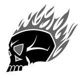 Burning skull tattoo Stock Photos