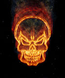 Burning skull Royalty Free Stock Photography