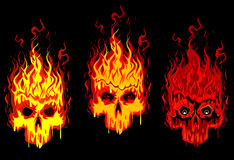 Burning skulls Royalty Free Stock Image