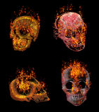 Burning skulls Royalty Free Stock Photos
