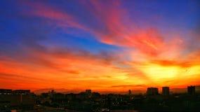 burning sky Royaltyfri Foto