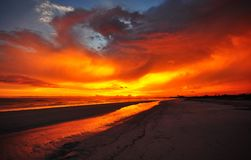 The Burning Sky Royalty Free Stock Photography